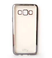 Силиконовый чехол Utty Electroplating TPU на Samsung Galaxy A3 SM-A300 Black