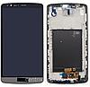 Дисплей (екран) для LG D855 G3 + тачскрін, сірий, з передньою панеллю, оригінал