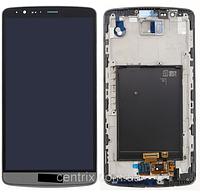 Дисплей (экран) для LG D855 G3 + тачскрин, серый, с передней панелью, оригинал