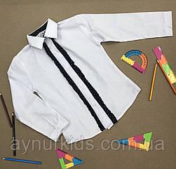Белая блузка для девочки 6-7-8-9 лет