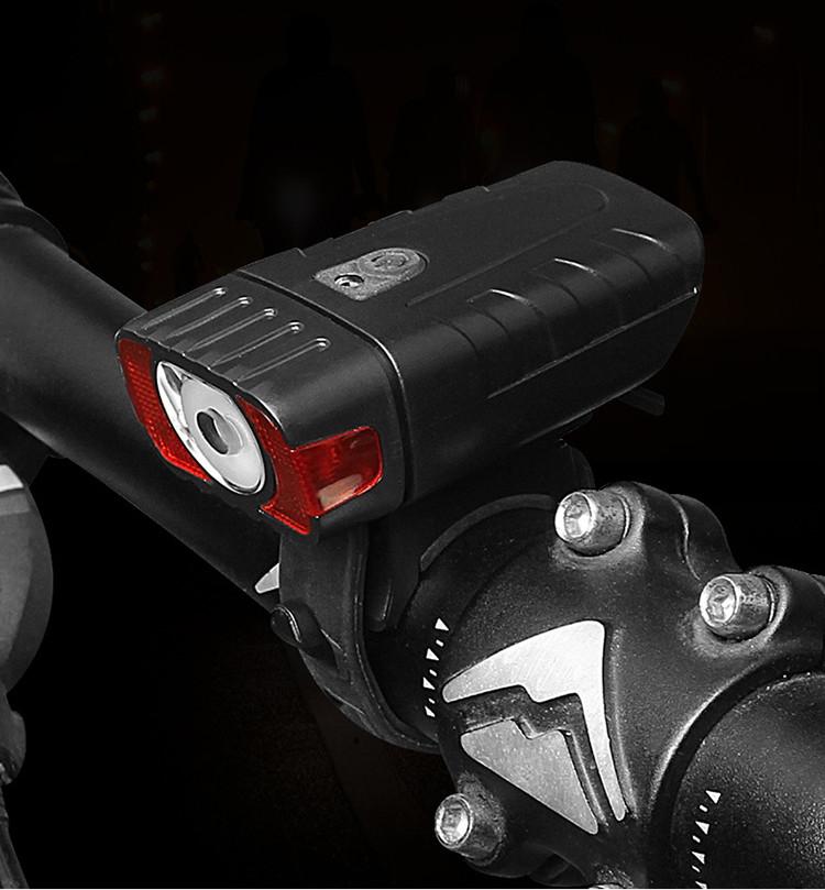 Фонарь велосипедный водостойкий HJ-050-3W 4 режима, датчик света