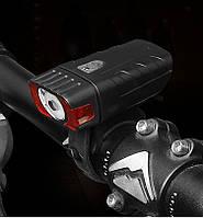 Фонарь велосипедный водостойкий HJ-050-3W 4 режима, датчик света , фото 1
