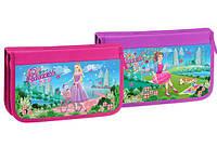 Пенал школьный KIDIS для девочек на 2 отделения картонный Princes