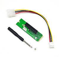 M.2 NGFF на PCI-E 4X райзер переходник LM-141X-V1.0, майнинг | код: 10.04487
