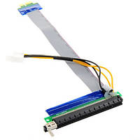 PCI-Express PCI-E 1X на 16X райзер, питание, molex 2000-00387