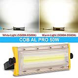 Прожектор светодиодный BIOM 50W COB Pro IP65 slim 220V холодный белый, фото 3