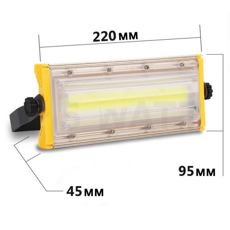 Прожектор светодиодный BIOM 50W COB Pro IP65 slim 220V холодный белый