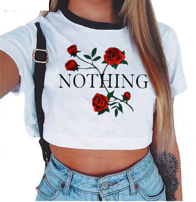 Топ с розами Nothing
