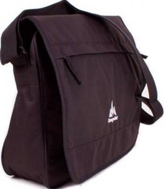 Городская удобная мужская сумка-почтальон Onepolar W5004-black черная