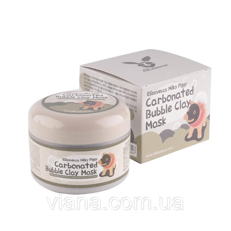 Очищающая глиняно-пузырьковая маска для лица ELIZAVECCA Carbonated Bubble Clay Mask 100 мл