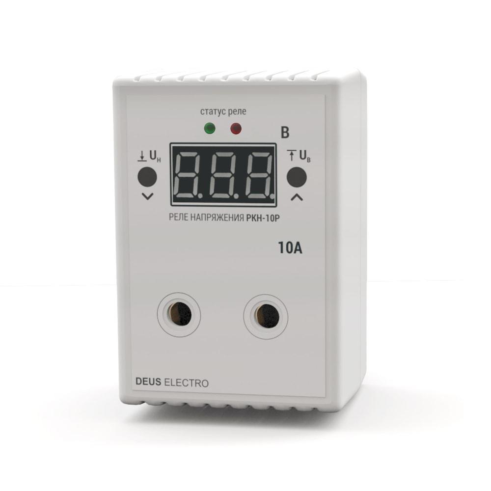 Реле контроля напряжения, устройство защиты от перепадов напряжения РКН-10Р (10А, 220В)