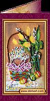 """Набор для вышивки бисером """"Пасхальная открытка-9″ AO-009"""