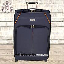 Комплект чемоданов 3 колеса 2в1 (синий), фото 2
