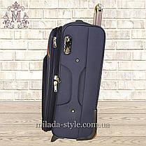 Комплект чемоданов 3 колеса 2в1 (синий), фото 3