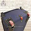 Комплект чемоданов 3 колеса 2в1 (синий), фото 4