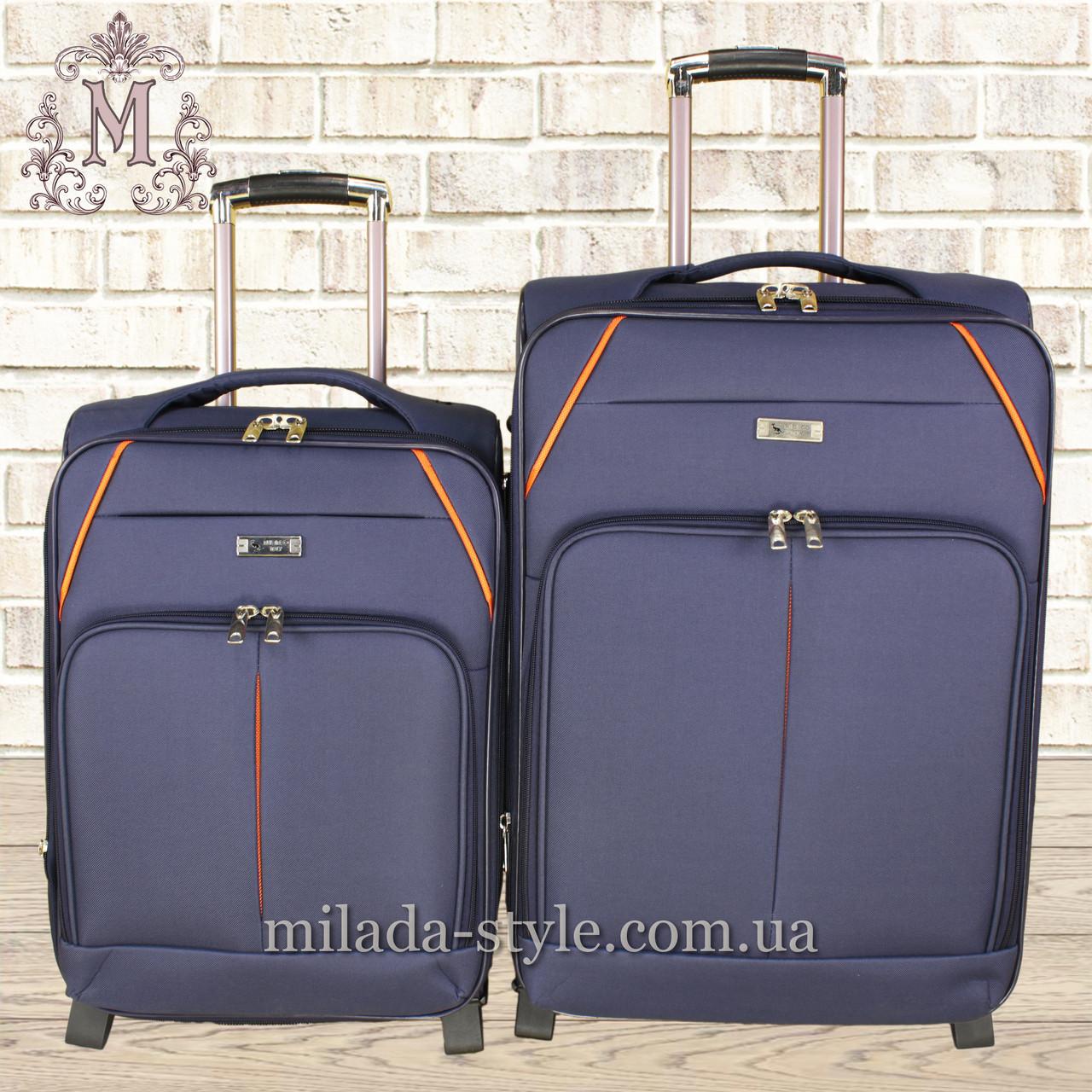 Комплект чемоданов 3 колеса 2в1 (синий)