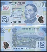 Mexico Мексика - 20 Pesos 2013 UNC
