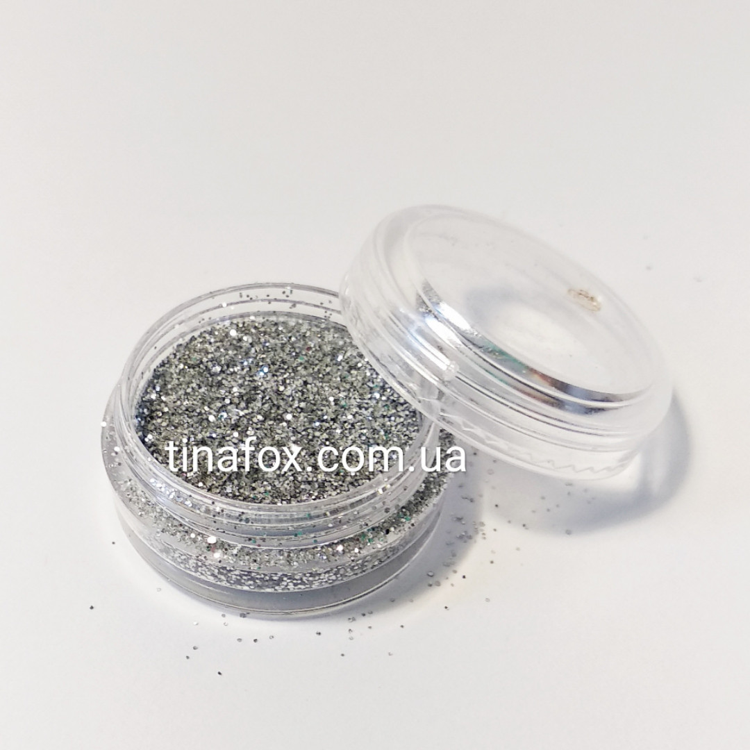 Блестки-песок серебро