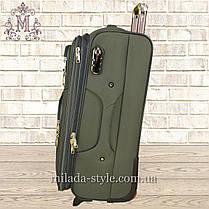 Комплект чемоданов 3 колеса 2в1( хаки), фото 3