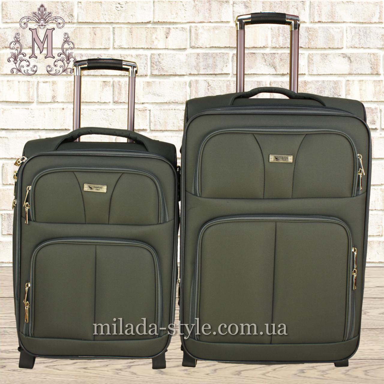 Комплект чемоданов 3 колеса 2в1( хаки)
