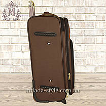 Комплект чемоданов 3 колеса 2в1 (коричневый), фото 3