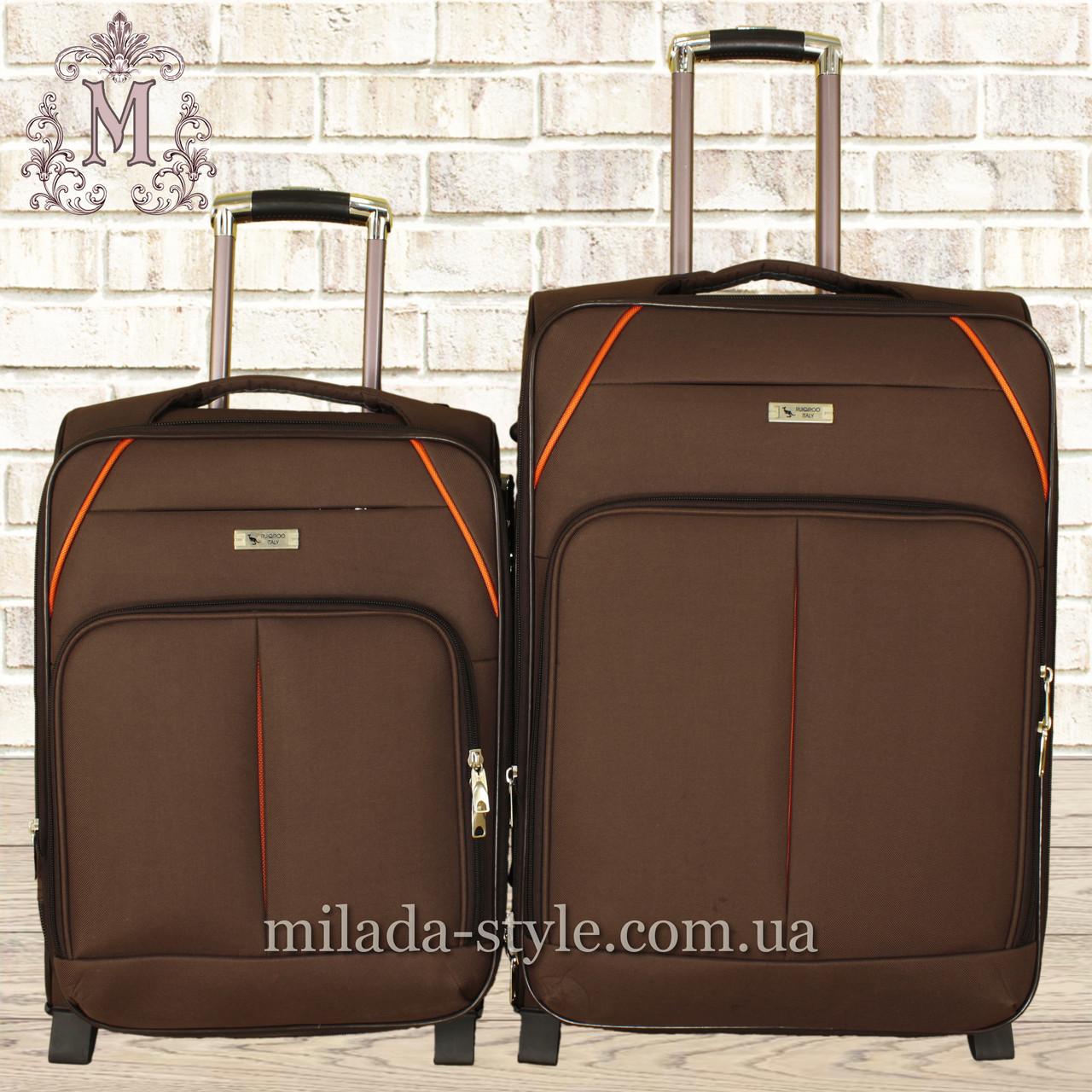 Комплект чемоданов 3 колеса 2в1 (коричневый)