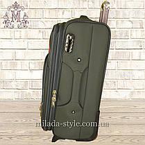 Комплект чемоданов 3 колеса 2в1 (хаки), фото 3