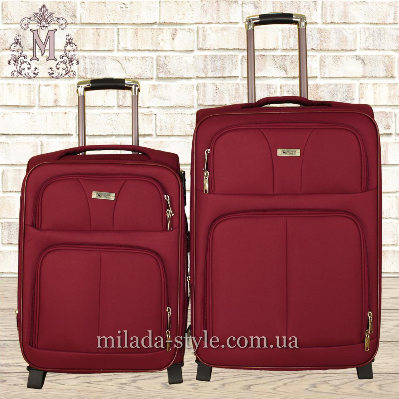 Комплект чемоданов 3 колеса 2в1 (красный)