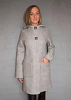 Пальто женское №52 (светло-серый)