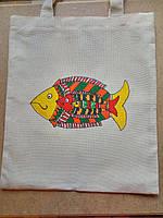 Эко-сумка индийская роспись Рыбки ручная работа