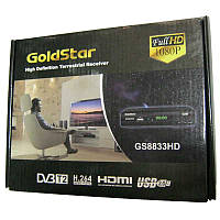 Тюнер DVB-T2 Goldstar GS8830HD c записью (USB 2.0,HDMI; AVI;MPEG4 и т.д)(32канала)