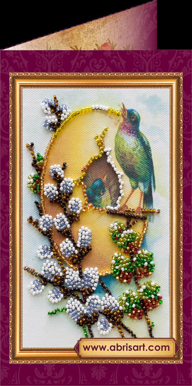 """Набор для вышивки бисером """"Пасхальная открытка-7″ AO-007"""