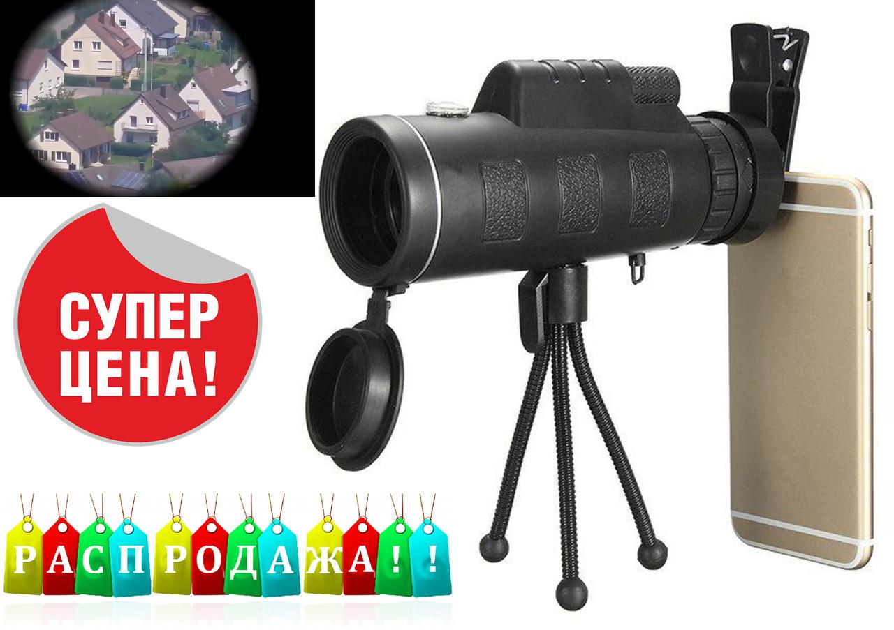 Монокуляр Panda 16x52 168-8000 m з подвійною фокусуванням+тринога+кліпса+заглушки. Чохол