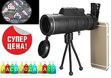 Монокуляр Panda 16x52 168-8000 m с двойной фокусировкой+тринога+клипса+заглушки. Чехол