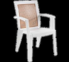 Кресло Papatya Сапфир белый
