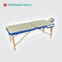Стол 2-х секционный бежевый с синей волной МСТ-003Л JF-AY01