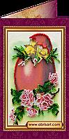 """Набор для вышивки бисером """"Пасхальная открытка-5″ AO-005"""