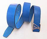 Синий кожаный ремень Louis Vuitton, фото 6