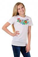 Дитяча футболка-вишиванка для дівчинки, фото 1