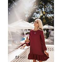Бордовое женское платье Розалия от производителя
