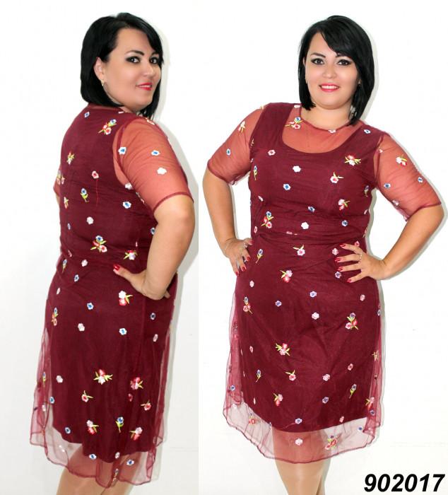 Платье нарядное,сетка с вышивкой 50 52 54 56р