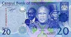 Лесото / Lesotho 20 maloti 2013 Pick 22 UNC