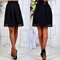 Стильная юбка с кружевом, для девочки подростка