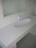 Столешница для ванной комнаты из искуственного камня (стандарт).
