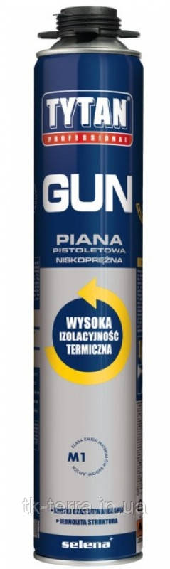 Пена монтажная проф. TYTAN GUN 750 мл