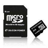 Карта памяти   micro-SDHC 8Gb SiliconPower Class10