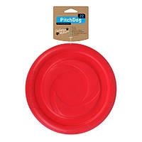 Collar PitchDog (ПитчДог) летающая тарелка красная, игрушка для собак 22см