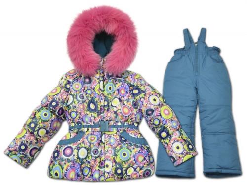 Детский зимний комбинезон для девочки от Donilo  2931 от 80-116