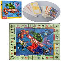 Настольная игра M 3802 Монополия, игр. поле, фишки, карточки