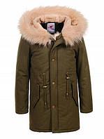 Парка пальто на меховой подкладке  на девочек 134/ 170 см